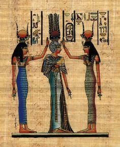 nefertari | ... Christmas Gifts - EGYPTIAN PAPYRUS: Coronation of Queen Nefertari