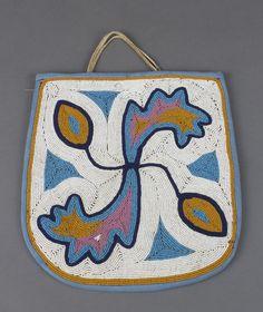Unknown Plateau artist, Contour-beaded flat bag, c. 1900; Portland Art Museum