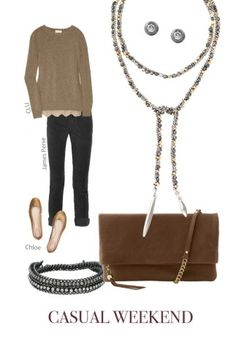 Casual Weekend: Neutral Hues & Zoe Lariat Necklace, Loving The Mixed-Metals and another great way to wear our Waverley bag!
