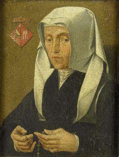 Magdalena van Waardenborgh (1464-1538), echtgenote van Jan van Egmond, anoniem, na ca. 1510