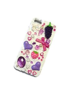 Kawaii Decoden Mobile Phone Case -- iPhone 5s Cute -- by PurpleSmoothie, $25.00   #kawaii #deocden #kitsch #iphone
