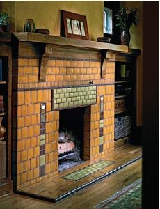 Motawi Tileworks Detroit Home Award-Winning Fireplace
