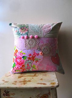 Paradise Cushion Pillow Cover Pom Poms Pink by AllThingsPretty, $85.00