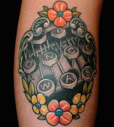 😍😍😍😍Typewriter Tattoo by Russ Abbott at Ink & Dagger Tattoo Parlour in Decatur, Georgia Sweet Tattoos, Love Tattoos, Beautiful Tattoos, Body Art Tattoos, Tatoos, Heart Tattoos, Pretty Tattoos, Tasteful Tattoos, Crazy Tattoos