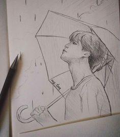 Love yourself bts art jimin Kpop Fanart, Jimin Fanart, Kpop Drawings, Pencil Art Drawings, Drawing Sketches, Drawing Art, Bts Art, Bts Chibi, Art Sketchbook