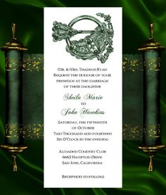 Irish Wedding Invitation & RSVP Celtic by KateTaylorDesigns