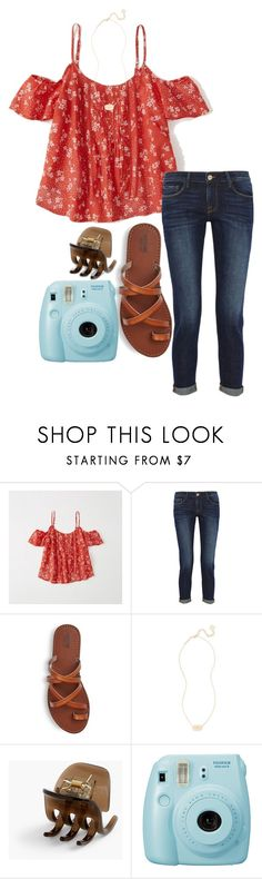 """""""☀️"""" by ava-navarrrroo ❤ liked on Polyvore featuring Abercrombie & Fitch, Frame, Kendra Scott, J.Crew and Fujifilm"""