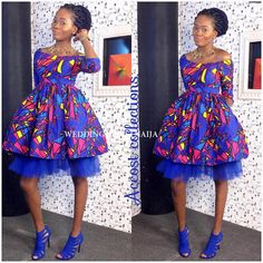 Ankara Styles With Pretty Blooms and Eye-Popping Trends - Wedding Digest Naija African Print Dresses, African Wear, African Women, African Dress, African Style, African Outfits, African Prints, African Clothes, African Fashion Designers