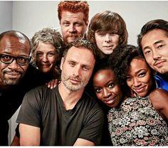 The Walking Dead cast - Lennie, Melissa. Michael, Chandler, Steven, Sonequa, Danai & Andy