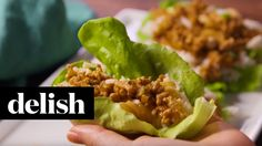 Asian Chicken Lettuce Wraps | Delish