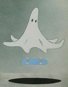 skateboarder ghost.