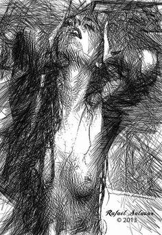 The Feeling Digital Art by Rafael Salazar