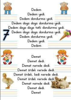 Free Heart-Shaped Animal Printable Crafts for Valentine's Day 🦄 🐔 🦊 🐻 Learn Turkish Language, Primary School, Quotations, Education, Learning, Books, Hair Style, Crafts, Travel