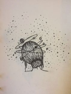 Lost in thought. #draw #penart #sketches #drawings #space #artwork #doodles