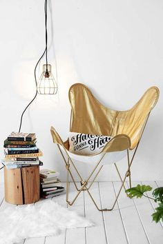 We just suddenly realized that we need a gold chair in our lives.