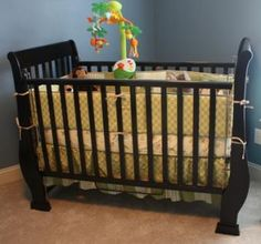 The sleigh baby crib is a full size crib that include spring set, a two sided movable gates. The crib shown is finished in a low VOC dark espresso fin… Old Baby Cribs, Old Cribs, Dark Wood, Babies, Bed, Furniture, Home Decor, Products, Babys