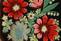 Embroidery from Dalarna. Dalarna  historical province or landskap in central Sweden.