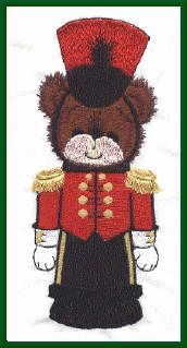 Threadsketches' Bearly Christmas, Christmas embroidery designs, bear nutcracker