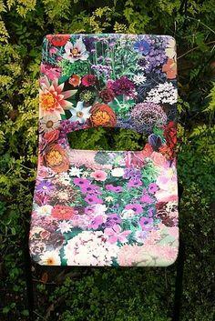 floral decoupage chair