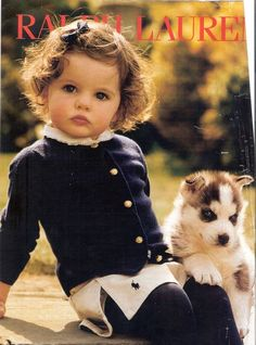Love Ralph Lauren photos What a cute baby and puppy photo So Cute Baby, Baby Kind, Baby Love, Cute Kids, Cute Babies, Fashion Kids, Girl Fashion, Little People, Little Ones