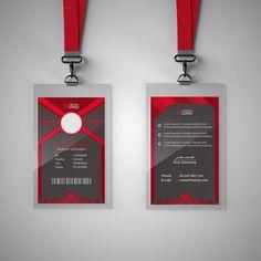 Modern Red Id Card Template Metal Business Cards, Black Business Card, Business Card Design, Creative Business, Id Card Template, Card Templates, Vocabulary Book Pdf, Company Id, Corporate Id
