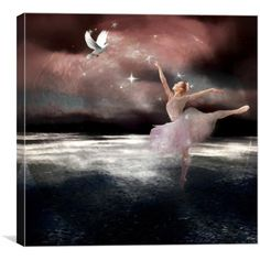 a digital image of a beautiful ballerina dancing and a pretty white dove inside a delicate moon Digital Image, Digital Art, Ballerina Dancing, White Doves, Lovers Art, Art For Sale, Art Pieces, Fantasy, Artwork