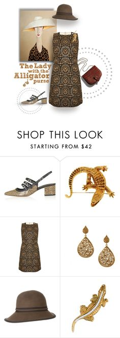 """... or is it Crocodile?"" by s-elle ❤ liked on Polyvore featuring Topshop, Little Liffner, Alice + Olivia, Sunday Afternoons, modern, women's clothing, women, female, woman and misses"