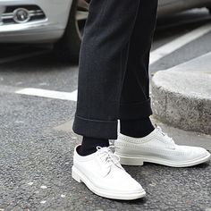 White-Out Oxfords - Shot by @TommyTon during #PFW    Create a pair like these on AwlandSundry.com