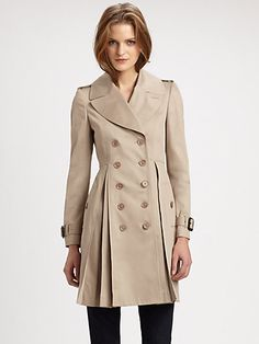 Burberry London - Inverted Pleat Trench - Saks.com