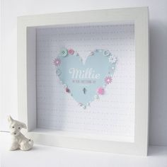personalised christening silver cross heart by sweet dimple | notonthehighstreet.com