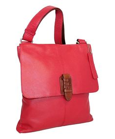 Loving this Red Casanova Leather Crossbody Bag on #zulily! #zulilyfinds