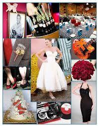 1950 S Wedding Theme Design Retro 50s Themes