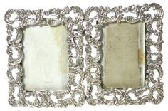 One Kings Lane Vintage Antique Sterling Silver Picture Frame - Rose Victoria Victorian Picture Frames, Victorian Pictures, Silver Picture Frames, Wedding Picture Frames, One Kings Lane, Abstract Shapes, Geometric Shapes, Double Picture, Interior Design Themes