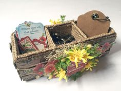 'Home Sweet Home' crate (view 4) Snapguide + tutorial by Katie #graphic45 - Wendy Schultz ~ Graphic 45 Projects.