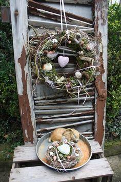 ***NEU*** Frühlingskranz mit Herz von Frijda im Garten - Aus einer Idee wurde Leidenschaft auf DaWanda.com