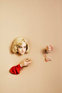 "Titled ""Modern Living,"" Alex Prager's editorial features actress Julia Garner and has a bit of a Surrealist feel to it — complete with errant body parts."