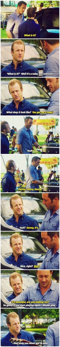 Look, I got something for you. You got something for me? I do. #hawaii five 0…