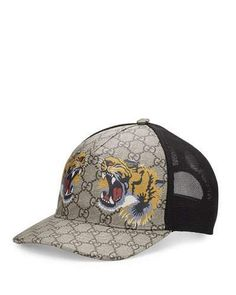 5522fa606 Gucci Tigers print GG Supreme baseball hat - Neutrals in 2019 ...