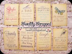Quote Journal Cards Prompts Scrapbooking by SweetlyScrappedArt, $2.95