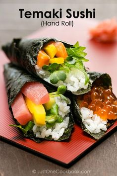 Temaki Sushi (Hand Roll Sushi) | Easy Japanese Recipes at