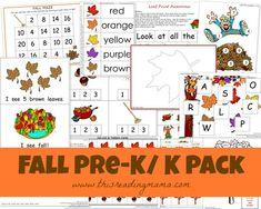FREE Fall PreK/K Pack