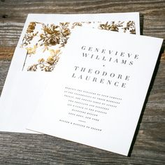Theon simple and modern letterpress wedding invitation from Bella Figura. Customize yours with Paper Passionista.