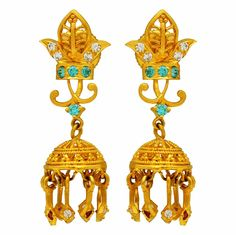 #gold #jhumkis #blue #red #indian #colors #season #ethnic