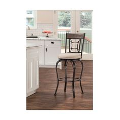 Hillsdale Furniture Indoor / Outdoor Kent Swivel Counter Stool ($178) ❤ liked on Polyvore featuring home, outdoors, patio furniture, outdoor stools, outdoor bar stools, outdoor counter stools, black swivel bar stools, black swivel counter stools and outdoor swivel bar stools