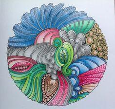 Color Me Calm mandala using Prismacolour and Polychromos pencils.
