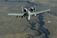 An Idaho Air National Guard A-10, Thunderbolt II, from the 190th Fighter Squadron, Boise, Idaho departs after receiving fuel from a 151st Air Refueling Wing KC-135 during a training mission May 10 over southern Id. The 151st ARW routinely supports air operations across the western United States.  (USAF Photo by Master Sgt. Ben Bloker)