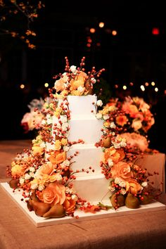 Not a fan of the cake but the flowers are beautiful
