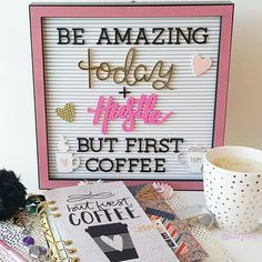 Mondays are for fresh starts & lots of coffee! ☕ Letterboard by @homebydcwv now available at @joann_stores #letterboard #lesshousemorehome