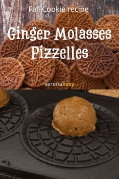 How to make ginger molasses pizzelles- - a twist of the classic Italian Pizzelle. - How to make ginger molasses pizzelles- – a twist of the classic Italian Pizzelle cookie recipe wi - Fall Cookie Recipes, Italian Cookie Recipes, Chocolate Cookie Recipes, Cake Mix Recipes, Chocolate Chip Cookies, Dessert Recipes, Italian Cookies, Pizzelle Cookies, Crack Crackers