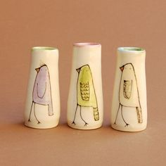 cute bud vases, I may just add something tropical though!